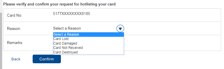 HDFC Debit Card Block